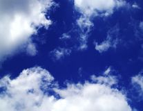 Cielo di mezzogiorno Fotografia Stock