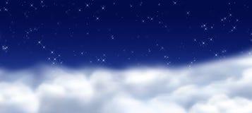 Cielo di Midmight Fotografie Stock