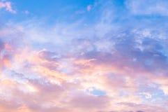 Cielo di mignolo Fotografia Stock