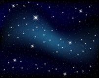 Cielo di notti scintillante con le stelle Fotografie Stock