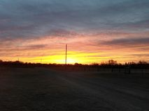 Cielo di Oklahoma Fotografie Stock