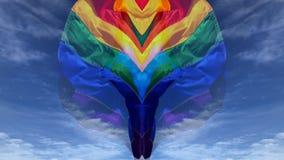 Cielo di Pride Rainbow Flag Abstract Blue del gay video d archivio