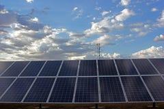 Cielo di riga del comitato solare Fotografia Stock Libera da Diritti