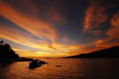 Cielo di Ripply di tramonto Fotografia Stock