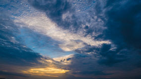 Cielo di sera fotografie stock