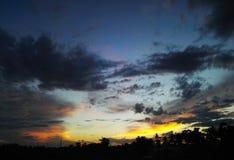 Cielo di sera Fotografie Stock Libere da Diritti