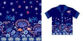 Cielo di sera Progettazione della camicia hawaiana Fotografia Stock