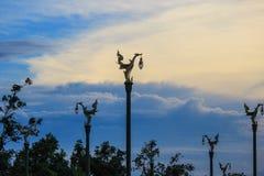 Cielo di sera a Thanon Utthayan Fotografia Stock Libera da Diritti