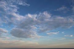 Cielo di tempo della spiaggia Fotografia Stock