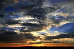 Cielo di tramonto Immagini Stock