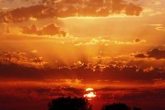 Cielo di tramonto fotografia stock
