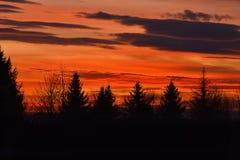 Cielo di tramonto Fotografie Stock