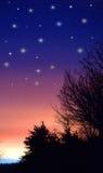 Cielo di tramonto Immagine Stock