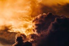Cielo di tramonto in Bali fotografia stock libera da diritti