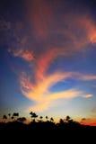 Cielo di tramonto come bello fondo Fotografia Stock