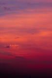Cielo di tramonto con le nubi Fotografie Stock Libere da Diritti