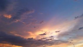 Cielo di tramonto dell'Arizona Immagini Stock
