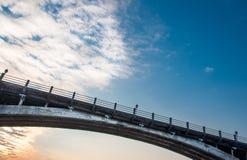 Cielo di tramonto della carta da parati del ponte Immagini Stock Libere da Diritti