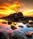Cielo di tramonto di colore Fotografia Stock Libera da Diritti