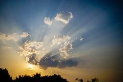 Cielo di tramonto di estate Fotografia Stock Libera da Diritti