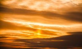 Cielo di tramonto di inverno Immagine Stock Libera da Diritti