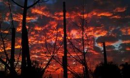 Cielo di tramonto dopo la tempesta Immagine Stock Libera da Diritti