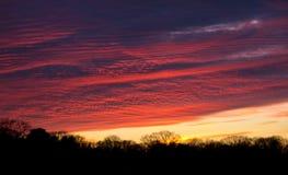 Cielo di tramonto nella caduta Fotografia Stock Libera da Diritti