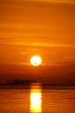 Cielo di tramonto, Tailandia Immagini Stock