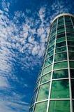 Cielo di vetro della costruzione Fotografia Stock