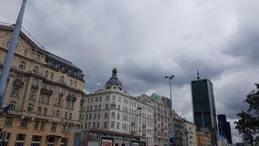 Cielo di Warsaws prima di pioggia fotografia stock libera da diritti