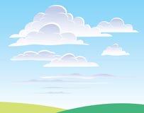 Cielo diurno con las nubes Fotos de archivo
