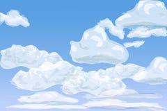 Cielo diurno con las nubes de cúmulo acodadas, ejemplo libre illustration