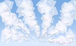 Cielo diurno con las nubes de cúmulo acodadas, ejemplo stock de ilustración
