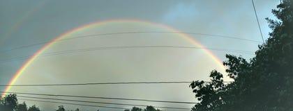 Cielo doble bicolor del arco iris fotos de archivo libres de regalías