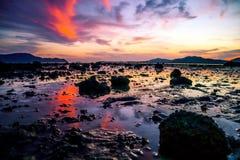 Cielo dopo il tramonto immagine stock