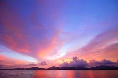 Cielo dopo il tramonto Fotografia Stock Libera da Diritti