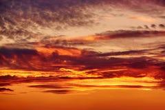 Cielo dopo il tramonto Fotografie Stock Libere da Diritti