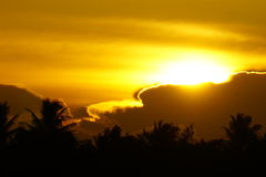 Cielo dorato Fotografia Stock