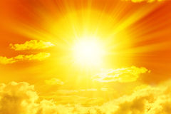 Cielo dorato di Sun Immagine Stock Libera da Diritti