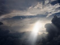 Cielo dramático Imagenes de archivo