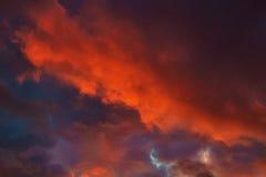 Cielo dramático Fotografía de archivo libre de regalías