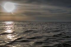 Cielo dramático de la puesta del sol imagen de archivo libre de regalías