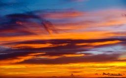 Cielo dramático de la salida del sol Fotografía de archivo