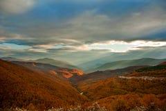 Cielo dramático del otoño Imagen de archivo libre de regalías