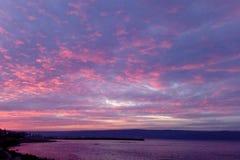 Cielo dramático durante puesta del sol fotos de archivo libres de regalías