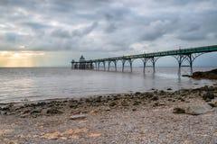 Cielo dramático sobre el embarcadero de Clevedon Foto de archivo libre de regalías