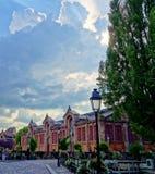 Cielo drammatico a Colmar, l'Alsazia, Francia immagine stock libera da diritti
