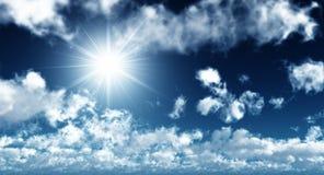 Cielo drammatico di estate Immagini Stock