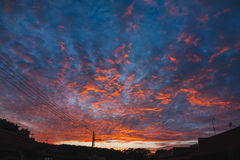 Cielo drammatico di tramonto Immagine Stock Libera da Diritti