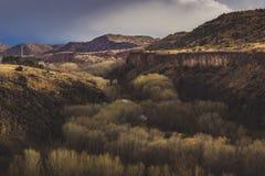 Cielo drammatico sopra la S O B canyon Fotografia Stock